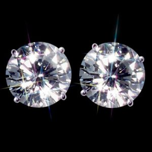 Kim cương nhân tạo Moissanite Round 4ly