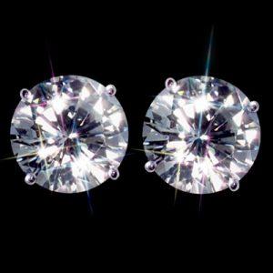 Kim cương nhân tạo Moissanite Round 6ly8