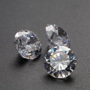 Kim cương nhân tạo Moissanite Round 8ly