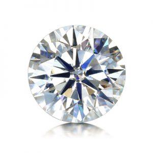 Kim cương nhân tạo Moissanite Round 9ly5