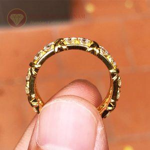 Nhẫn kim cương tự nhiên tiffany eternity ring vàng 18k