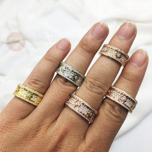 Nhẫn xoay Kitnet full kim cương nhân tạo moissanite