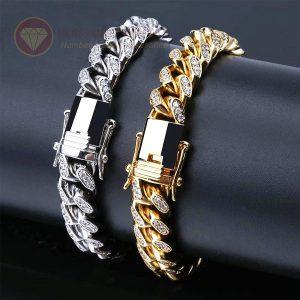 Lắc tay nam 50% kim cương cuban chain