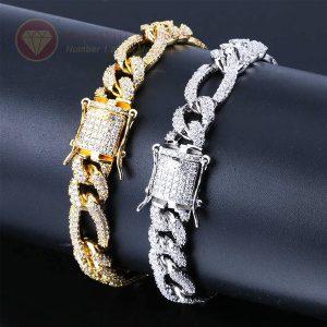 Lắc tay nam full kim cương cuban chain