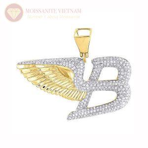 Mặt dây chuyền nam chữ B fly kim cương
