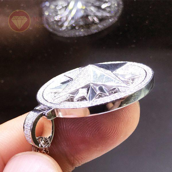 Mặt dây chuyền hình sao kim cương nhân tạo moissanite 1