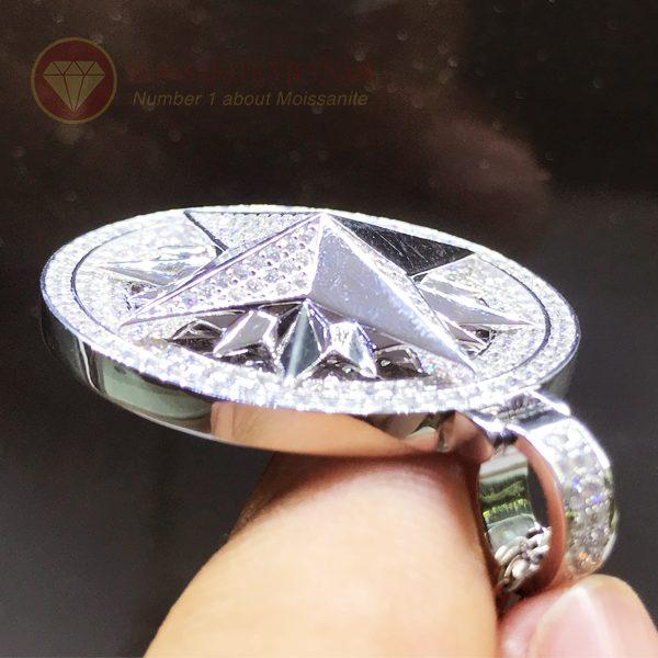 Mặt dây chuyền hình sao kim cương nhân tạo moissanite 3