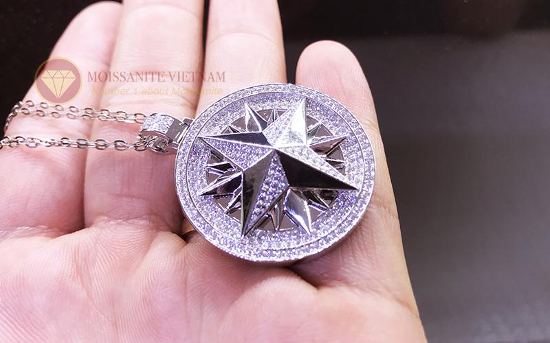 Mặt dây chuyền hình sao kim cương nhân tạo moissanite 6