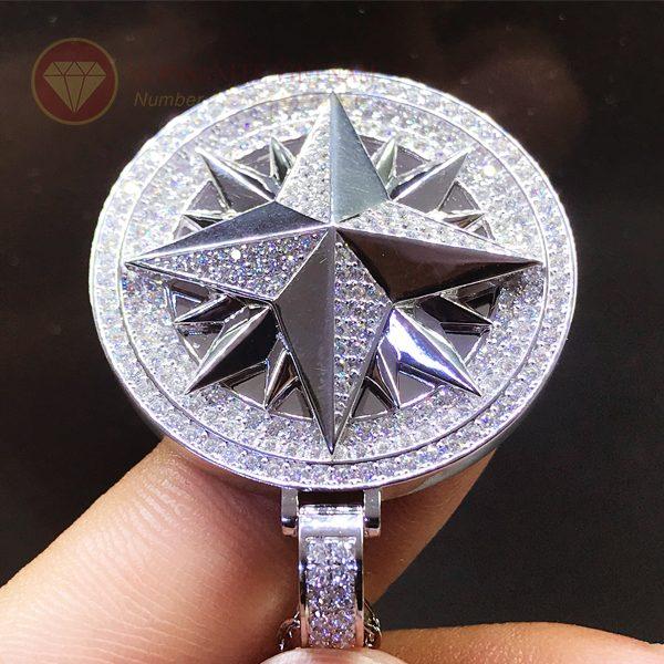 Mặt dây chuyền hình sao kim cương nhân tạo moissanite