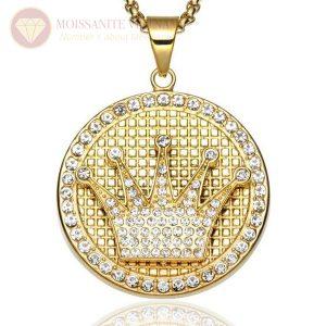 Mặt dây chuyền nam huy chương full kim cương