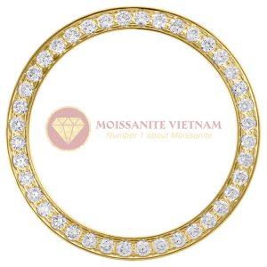Độ niềng đồng hồ Rolex size 26 full kim cương 0.8ct vàng vàng 18k