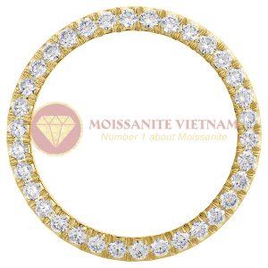 Độ niềng đồng hồ Rolex size 36 full kim cương 3.57ct vàng vàng 18k style U