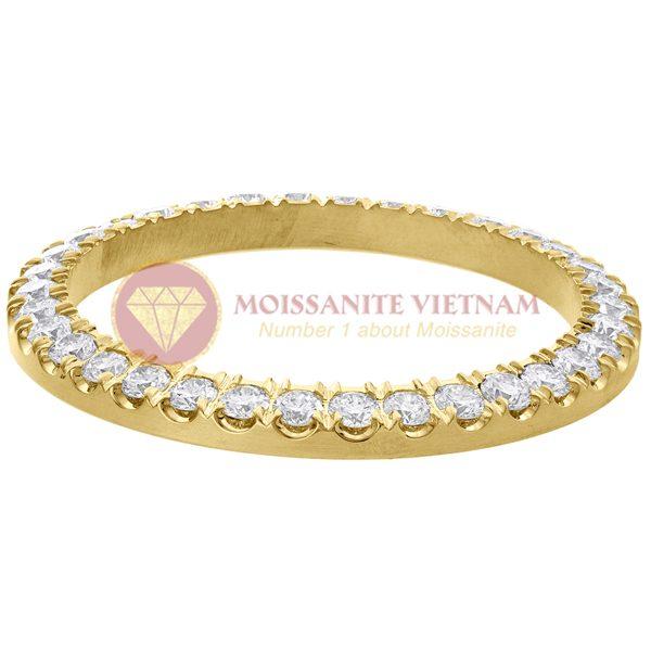 Độ niềng đồng hồ Rolex size 36 full kim cương 3.57ct vàng vàng 18k style U 2