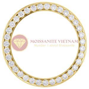 Độ niềng đồng hồ Rolex size 36 full kim cương 3.5ct vàng vàng 18k