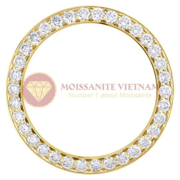 Độ niềng đồng hồ Rolex size 41 full kim cương vàng vàng 18k 1