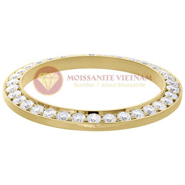 Độ niềng đồng hồ Rolex size 41 full kim cương vàng vàng 18k