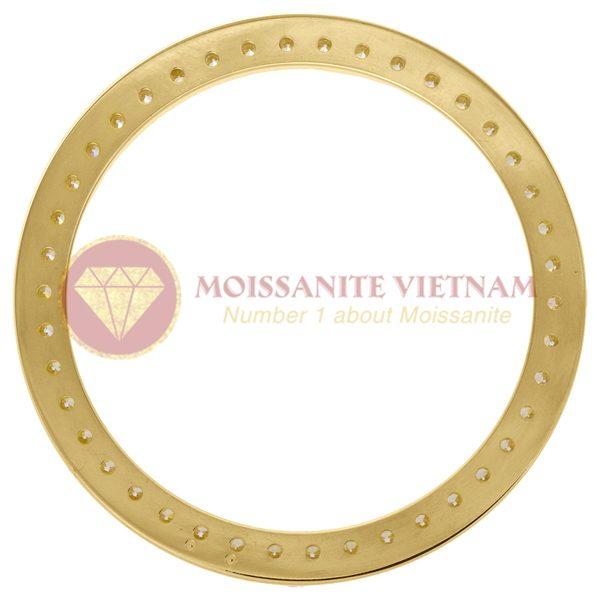 Độ niềng đồng hồ Rolex size 41 full kim cương vàng vàng 18k - O2 1