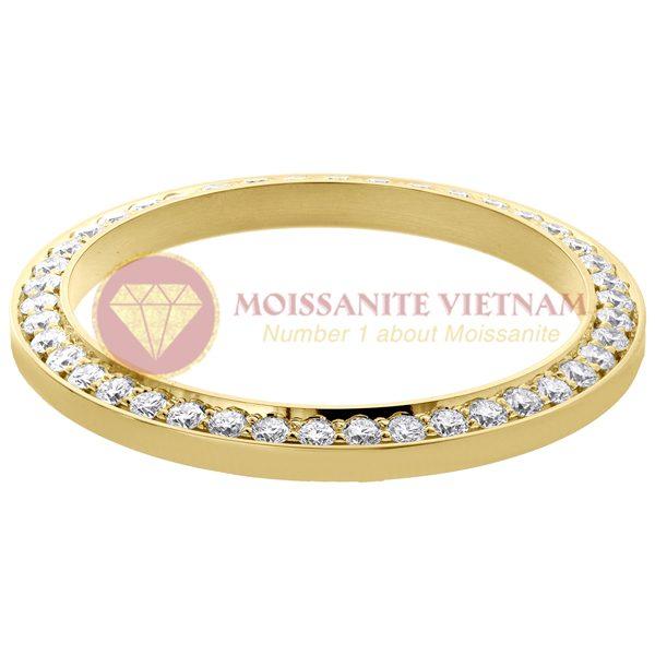 Độ niềng đồng hồ Rolex size 41 full kim cương vàng vàng 18k - O2 2