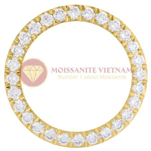 Độ niềng đồng hồ Rolex size 26 full kim cương 2ct vàng vàng 18k