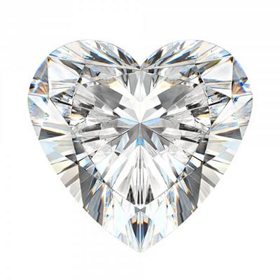 Giác cắt kim cương moissanite heart