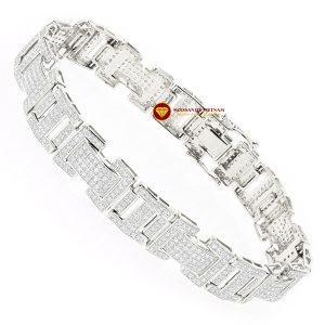 Lắc tay kim cương nam chữ H vàng 18k