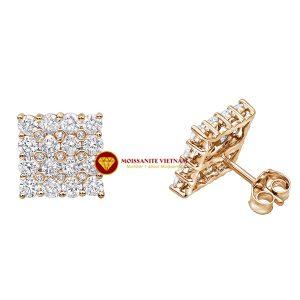 Bông tai nam kim cương nhân tạo mỹ moissanite luxurman 2