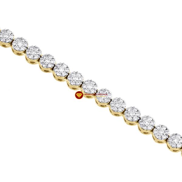 Dây chuyền kim cương nam mắt tròn 5mm 1