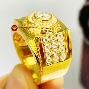 Nhẫn nam kim cương nhân tạo mỹ moissanite Versace 4