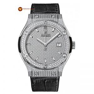Độ đồng hồ kim cương Hublot full mặt số, niềng và vành