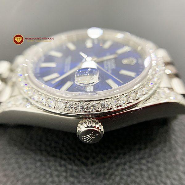 Độ niềng đồng hồ kim cương rolex size 41 full niềng và đai 1