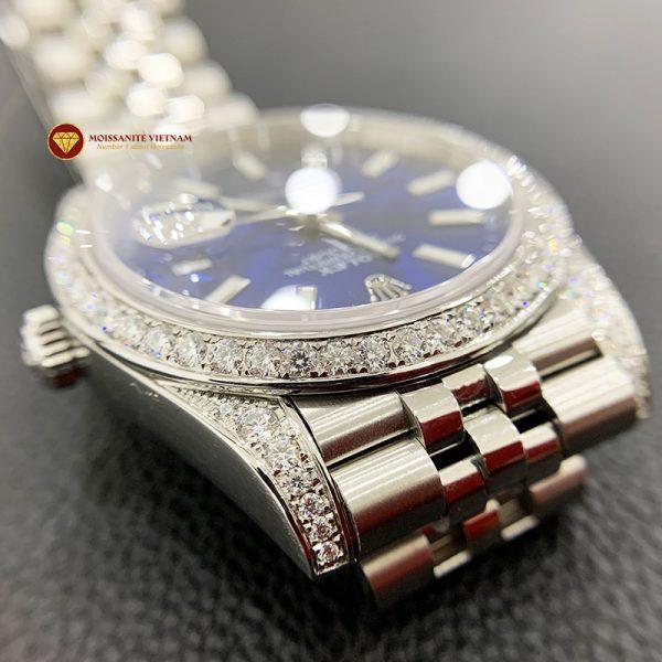 Độ niềng đồng hồ kim cương rolex size 41 full niềng và đai 2