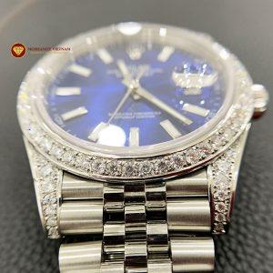 Độ niềng đồng hồ kim cương rolex size 41 full niềng và đai 3