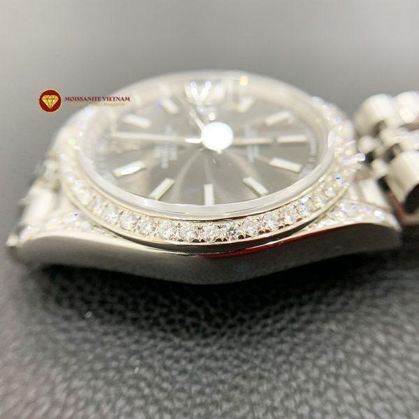 Độ niềng đồng hồ kim cương rolex size 41 full niềng và đai 4