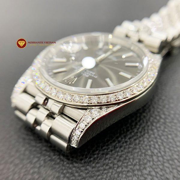 Độ niềng đồng hồ kim cương rolex size 41 full niềng và đai 5