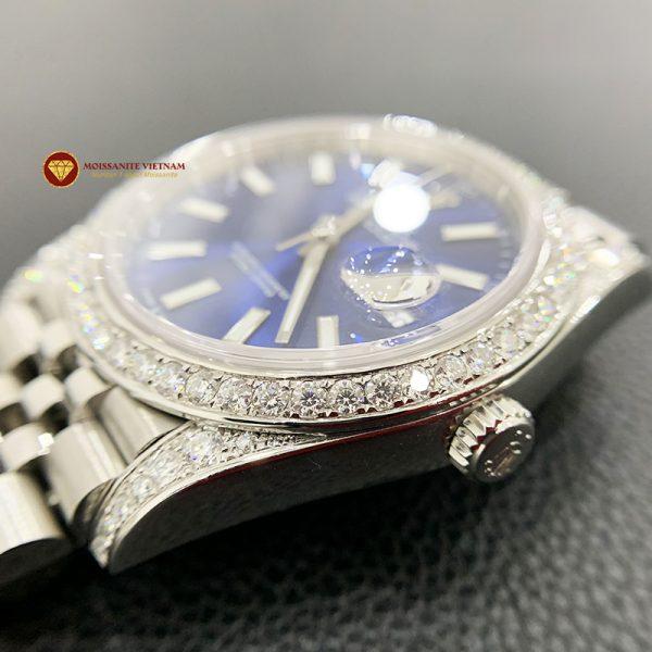 Độ niềng đồng hồ kim cương rolex size 41 full niềng và đai