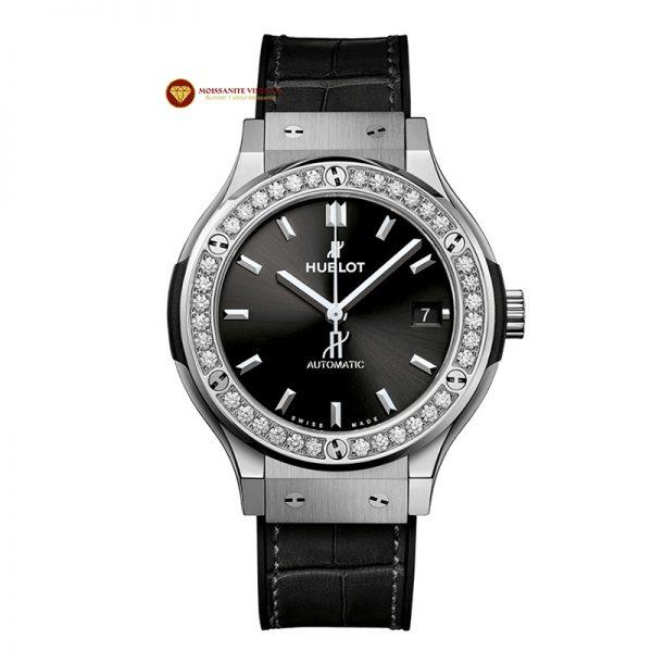 Độ niềng đồng hồ kim cương Hublot 1 hàng kim