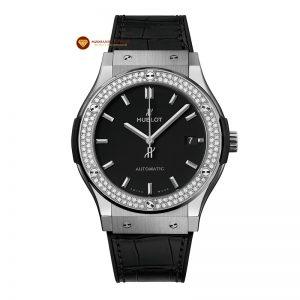 Độ niềng đồng hồ Hublot 2 hàng kim cương