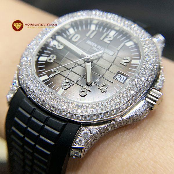 Độ đồng hồ full kim cương Patek Philippe 2