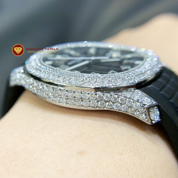 Độ đồng hồ full kim cương Patek Philippe 3