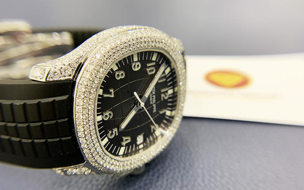 Độ đồng hồ full kim cương Patek Philippe 5