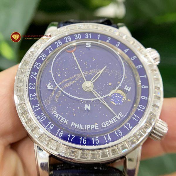 Độ niềng đồng hồ kim cương moissanite taper Patek Philippe 1