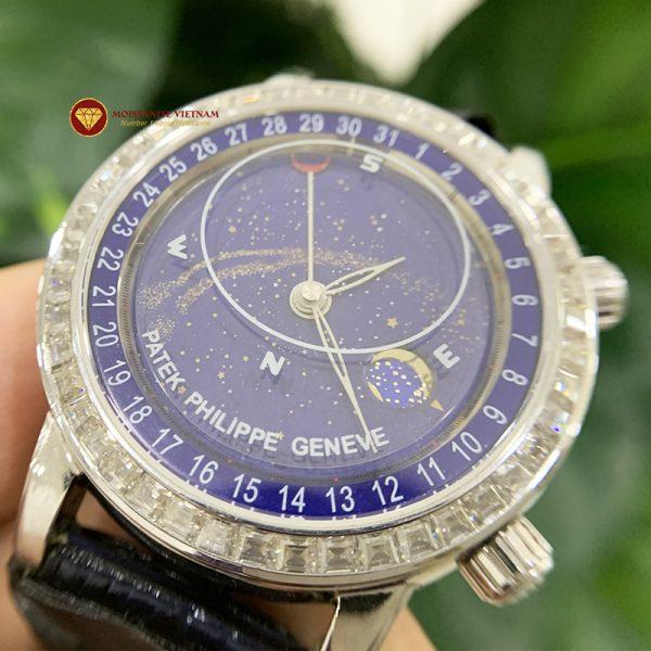 Độ niềng đồng hồ kim cương moissanite taper Patek Philippe 3