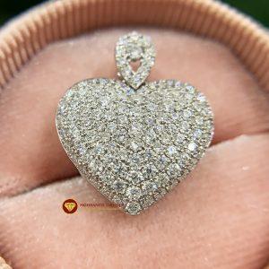 Mặt dây kim cương nữ hình trái tim