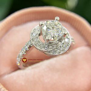Nhẫn nữ kim cương moissanite chủ 6ly3 engagement 1