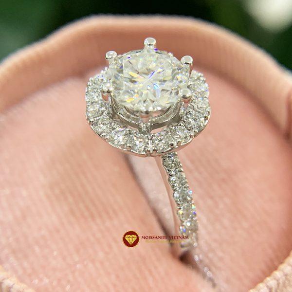 Nhẫn nữ kim cương moissanite chủ 6ly5 engagement 1