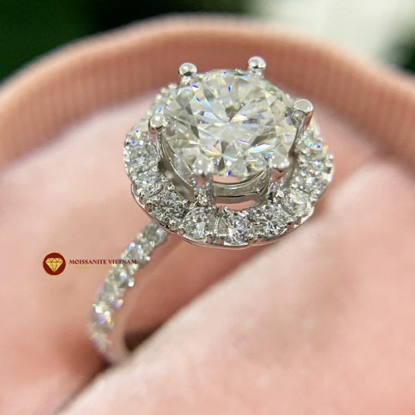 Nhẫn nữ kim cương moissanite chủ 6ly5 engagement 3