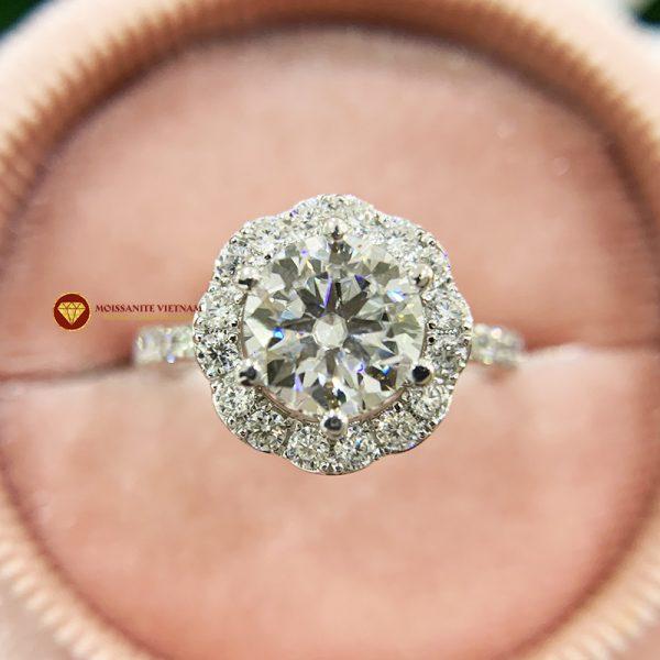 Nhẫn nữ kim cương moissanite chủ 6ly5 engagement 4