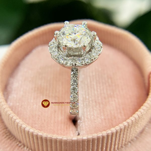 Nhẫn nữ kim cương moissanite chủ 6ly5 engagement