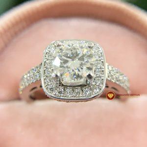 Nhẫn nữ kim cương moissanite chủ 6ly8 engagement
