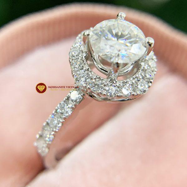 Nhẫn nữ kim cương moissanite chủ 7ly engagement 1